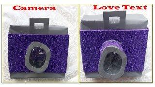 Unique Instax Card Tutorial |Paper Camera |Love Text|Sarapbook|Diy paper Crafts idea|love Gift Box - Video Youtube