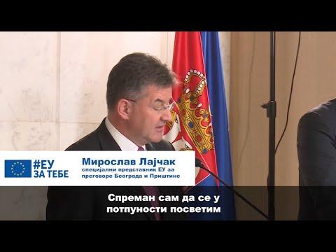 Miroslav Lajčak, visoki izaslanik EU za dijalog Beograda i Prištine, u dvodnevnoj poseti Beogradu