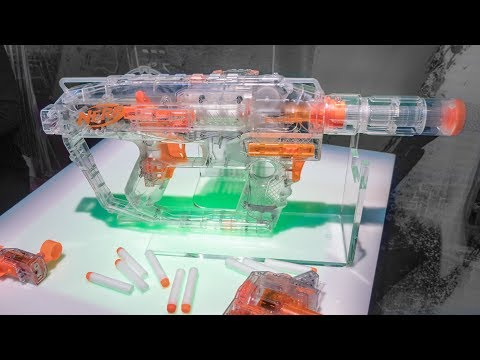 2018 Nerf Modulus Ghost Ops Evader + Chronobarrel + Reflective Target System