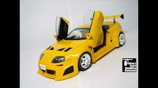 Building custom Tamiya SUPRA 1/24 scale model - Ame SUPRA - Completion date March