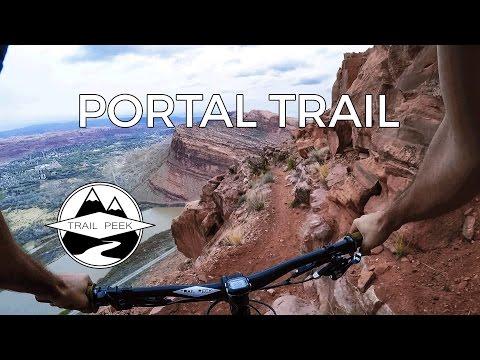 DON'T LOOK DOWN - Mountain Biking Portal Trail - Moab, Utah