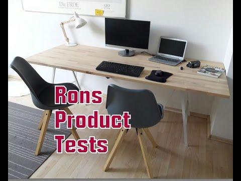 DIY Do it yourself Schreibtisch für ca  50€ selber bauen  aus Echtholz großer Arbeitsplatz Büro