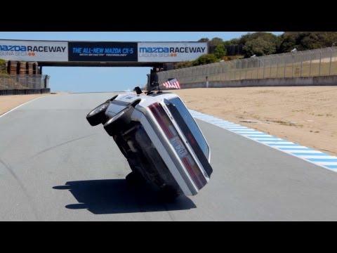 Lapping Laguna Seca on 2 Wheels in a Car