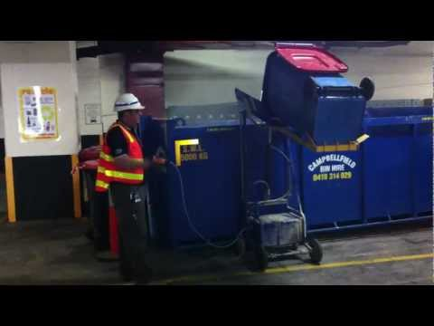 Rugged Powered bin lifter demo