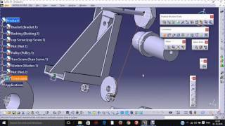 pulley support assembly part design in catia - मुफ्त