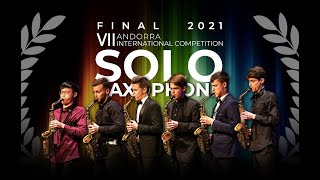ANDORRA SAX FEST SOLO COMPETITION: AWARDS AND CLOSING CEREMONY