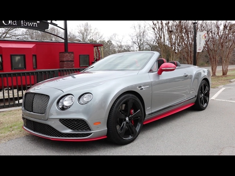 Behind The Wheel: 2017 Bentley Continental GT Speed Convertible Black Edition