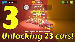 GETTING THE EPIC DRAGON IN 1ST TRY + UNLOCKING 23 CARS IN CRASH OF CARS