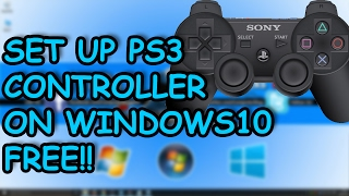 How to Connect PS3 Controller to Windows 10, 8.1 OR 7 PC - 2017 No Motionjoy