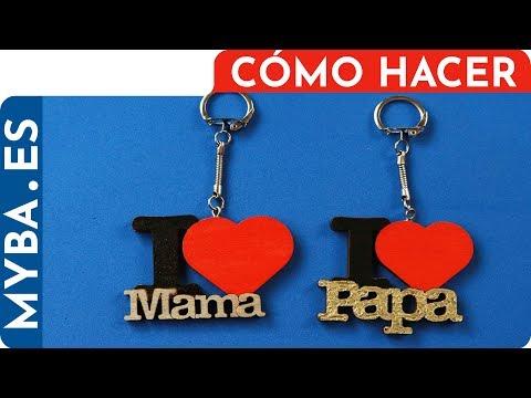 LLaveros día del padre, día de la madre, día de los enamorados. I love Mama, I love Mama, I love You