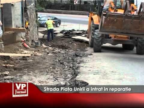 Strada Piaţa Unirii a intrat în reparaţie