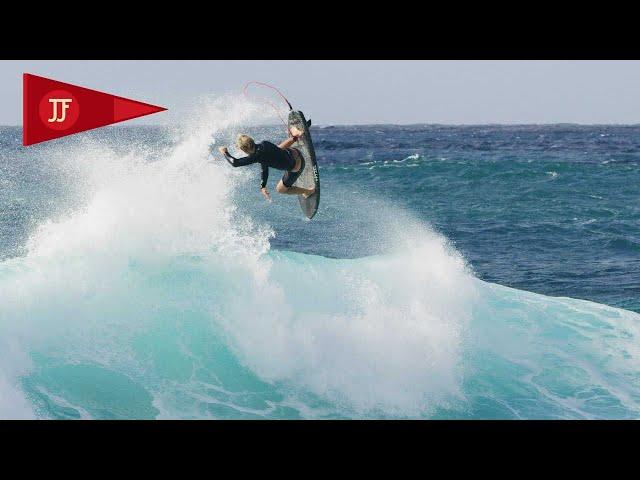 John John surfea con lo que le sea