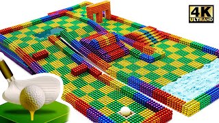 DIY - How To Make Marble Golf Board Game From Magnetic Balls (Satisfying)   Magnet World Series