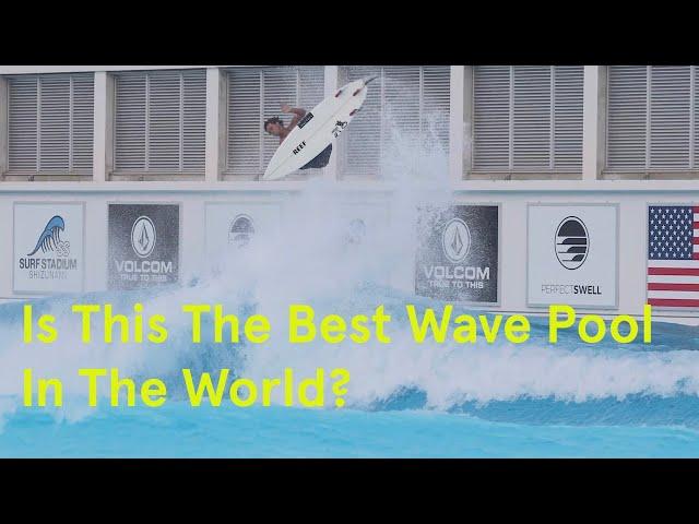 La nueva piscina de olas artificiales de Japón