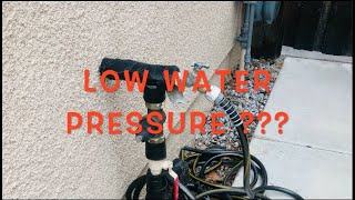 Low Water Pressure in the home???