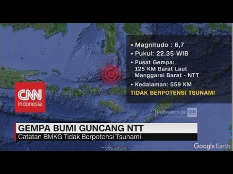 Gempa Bumi 6,7 SR Guncang NTT