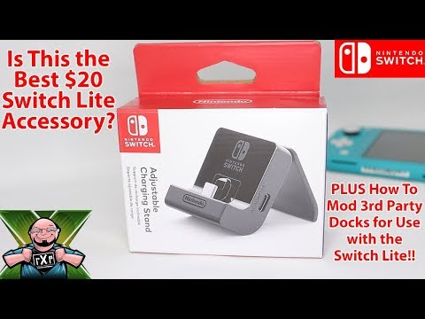 Use 3rd Party Dock To Charge Your Switch Lite! Should You Buy The Nintendo Adjustable Charge Stand