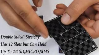 JOKER SD Portable Slim SD SIM MICRO FLASH THUMP DRIVE CARD Holder By HUSSBROS