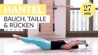 27 Min Core Workout mit 3 Kg Hanteln: Bauch, Taille, Rücken