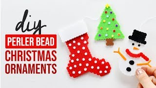 DIY LAYERED Perler Bead Christmas Ornaments - HGTV Handmade