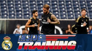 Training at the NRG Stadium in Houston