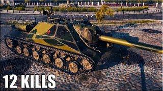Псих на Объекте 704 🌟 12 ФРАГОВ 🌟 World of Tanks лучший бой на пт-сау СССР 9 уровень
