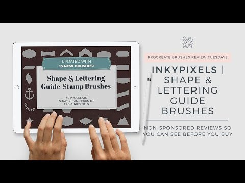 Procreate Brush Review | 25 Shape Brushes for Procreate by Inky Pixels