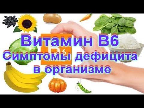 Витамин В6  Симптомы дефицита в организме