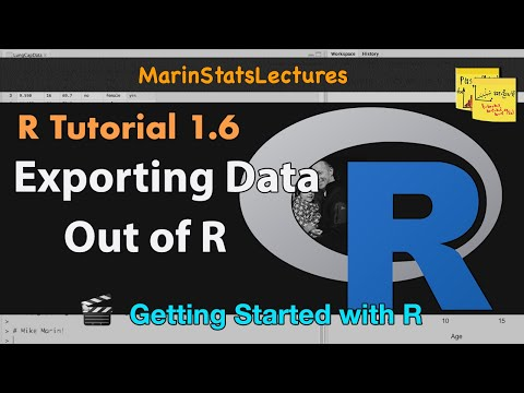 Export Data from R (csv , txt and other formats) | R Tutorial 1.6 | MarinStatsLectures