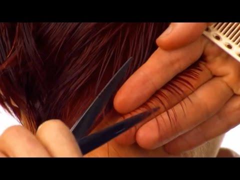 Ассиметричная стрижка на короткие волосы