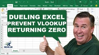 """Dueling Excel - """"Prevent VLOOKUP from Returning Zero"""" - Podcast #1750"""