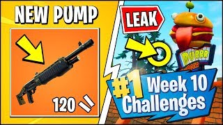 *NEW* LEGENDARY PUMP & FORTNITE SEASON 6 WEEK 10 CHALLENGES LEAKED (Durr Burger Ads & Locations)