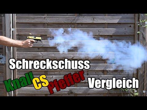 Experiment: Schreckschuss 9mm P.A.K. Vergleichstest (inkl. CS)