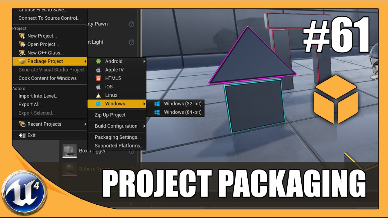Packaging Our Project - #61 Unreal Engine 4 Beginner Tutorial Series