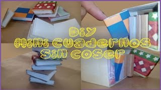♥★♥DIY Mini Cuadernos Sin Coser - Tiny Books Bookbinding Mini Books (Origami)♥★♥