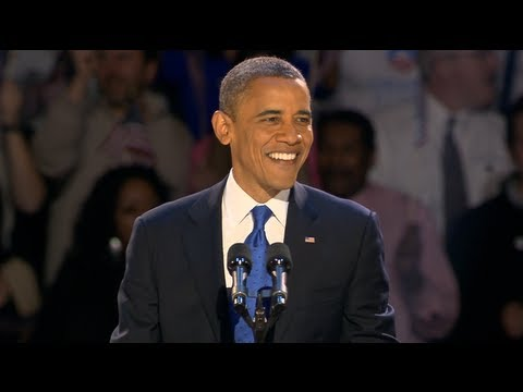 President Obama's Election Night Victory Speech – November 6, 2012 in Chicago, Illinois