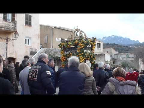 la procession de Sant Anton Abbate à Aregno, le 19 janvier 2014