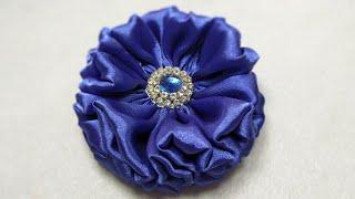 173) DIY Tutorial Fabric Flower || Sewing Hack || Fabric Rose Brooch