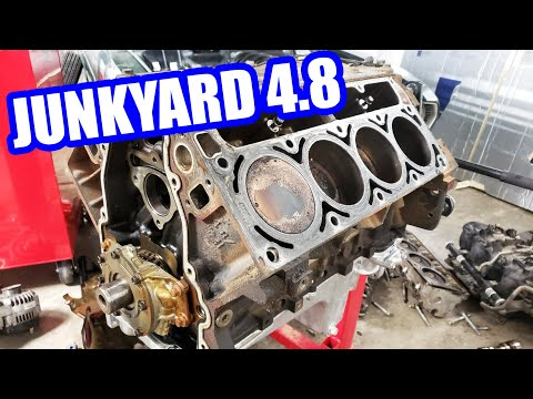 Disassembling the Junkyard 4.8L LS Engine for the S-10 Swap Burnout Truck!