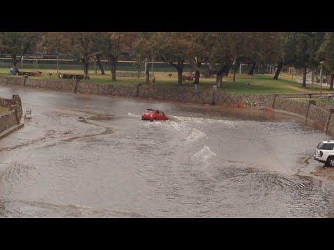 Cars Trapped In Southern California Flash Flood . WOW !