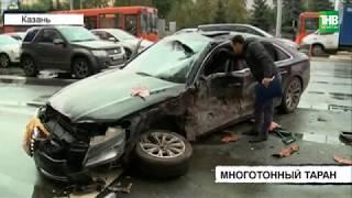 Пять пассажиров автобуса и водитель легковушки пострадали в результате аварии | ТНВ