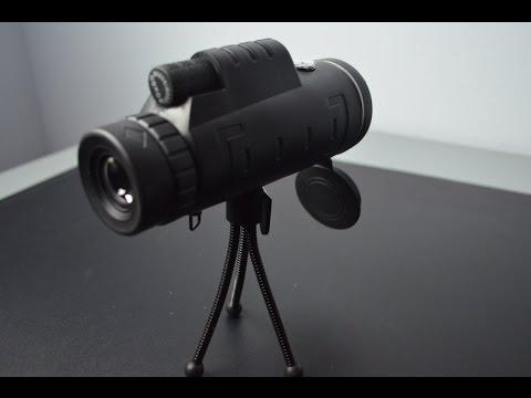 OUTERDO Telescopio monoculare 40x60 con doppia messa a fuoco