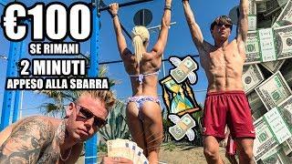 REGALO 100 EURO a chi resta appeso 2 minuti alla SBARRA!