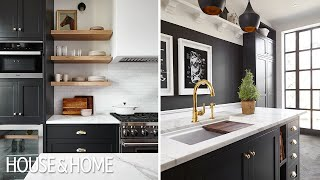 Kitchen Makeover: Black & Brass