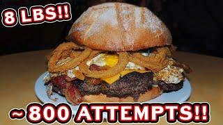 Lucky's 8lb Grim Reaper Burger Challenge in Atlanta, Georgia!!
