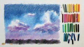 DrawFox. Сухая пастель для начинающих.. Урок 2-2. Небо.