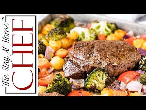 Italian Sheet Pan Steak and Veggies