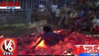Woman Falls Into Hearth At Cheruvu Gattu Jatara | Nalgonda | Teenmaar News | V6 News