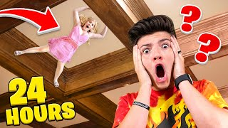 I Hid in PRESTONPLAYZ House for 24 Hours... - Challenge
