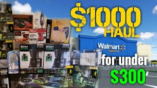 $1000 Haul at Walmart with $300 budget!